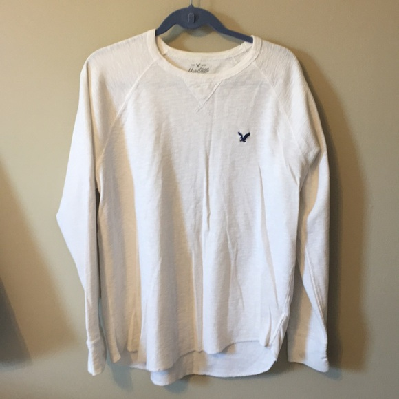 966450aee American Eagle Outfitters Shirts   White Mens Long Sleeve Shirt ...